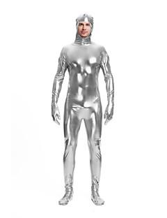 billige Zentai-Zentai Drakter Cosplay Kostumer Zentai Cosplay-kostymer Sølv Ensfarget Spandex Lykra Elastisk Unisex Halloween Karneval Maskerade / Høy Elastisitet