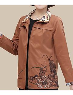 Χαμηλού Κόστους Σακάκια-Γυναικεία Σακάκι Κινεζικό στυλ - Μονόχρωμο / Φλοράλ