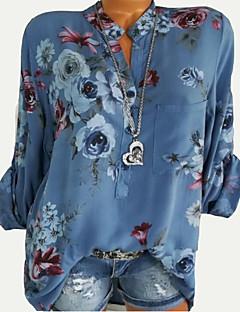 billige Skjorte-Dame - Blomstret I-byen-tøj Skjorte