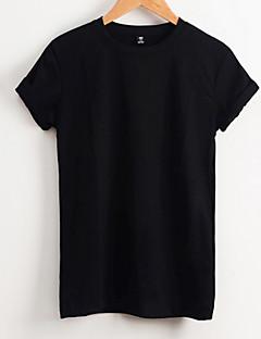 billige Herremote og klær-Bomull Rund hals T-skjorte Herre - Ensfarget / Kortermet