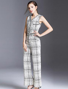 economico Completi due pezzi da donna-Per donna Essenziale / sofisticato Canotte A scacchi Pantalone