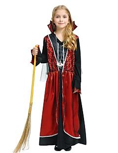 billige Halloweenkostymer-Trollmann / heks Kostume Jente Halloween Karneval Barnas Dag Festival / høytid Halloween-kostymer Drakter Rose Ensfarget Halloween Halloween