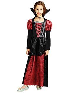 billige Barnekostymer-Trollmann / heks Kostume Jente Tenåring Halloween Halloween Karneval Barnas Dag Festival / høytid Polyester Drakter Svart Ensfarget Halloween