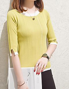 baratos Suéteres de Mulher-Mulheres Para Noite Pulôver - Sólido