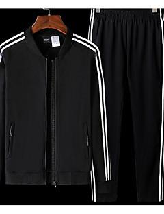 baratos Suéteres & Cardigans Masculinos-Homens Básico Conjunto - Listrado