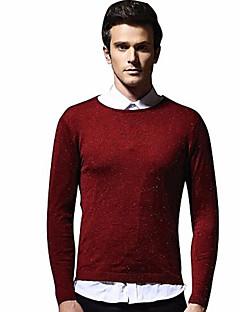 baratos Suéteres & Cardigans Masculinos-Homens Básico Pulôver - Poá