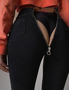 Χαμηλού Κόστους Γυναικεία Παντελόνια & Φούστες-Γυναικεία Κομψό στυλ street Τζιν Παντελόνι Μονόχρωμο