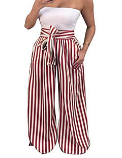 Χαμηλού Κόστους Πλατύ Πόδι-Γυναικεία Κομψό στυλ street Chinos Παντελόνι Ριγέ