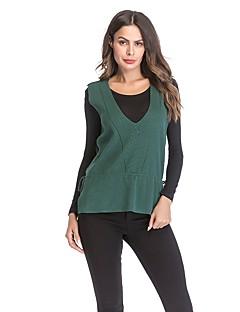 baratos Suéteres de Mulher-Mulheres Activo Colete - Sólido
