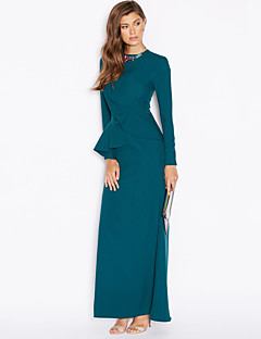 BENEVOGA Women's Street chic / Sophisticated Sheath / Two Piece Dress - Solid Colored Peplum