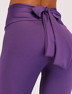 baratos Leggings para Mulheres-Mulheres Para Noite Esportivo Legging - Sólido Cintura Alta