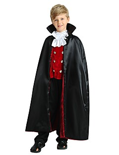 billige Barnekostymer-Cosplay Kostume Gutt Tenåring Halloween Halloween Karneval Barnas Dag Festival / høytid Polyester Drakter Svart Ensfarget Halloween