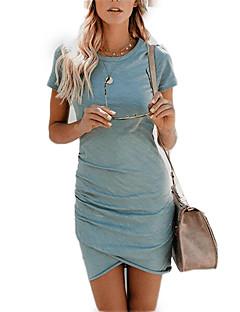 billige Minikjoler-Dame I-byen-tøj Skede Kjole Mini