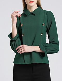 billige Kvinde Toppe-Dame - Ensfarvet Drapering Basale / Gade T-shirt