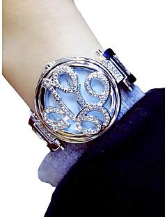 billige Blomster-ure-Dame Armbåndsur Quartz Kronograf Selvlysende Smuk Legering Bånd Analog Blomst Elegant Sølv / Guld - Guld Sølv / Imiteret Diamant
