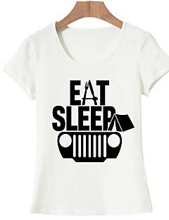 Γυναικεία T-shirt Βασικό Γράμμα Στάμπα d494a6b3189