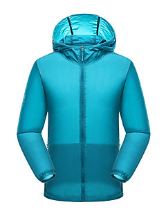 tanie Odzież turystyczna-Męskie Płaszcz przeciwdeszczowy / Wiatrówka turystyczna Na wolnym powietrzu Odporność na wiatr, Ochrona przed deszczem, Szybkie wysychanie Kurtka Pojedyncze Slider Podróże, Bieganie, Jogging