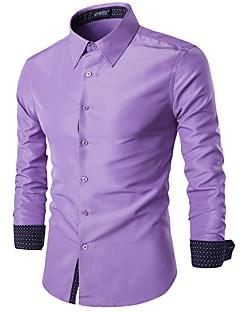 billige Herremote og klær-Skjorte Herre - Ensfarget, Lapper Forretning / Gatemote