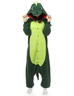 billige Kigurumi-Voksne Kigurumi-pysjamas Dinosaur Onesie-pysjamas Polar Fleece Grønn Cosplay Til Damer og Herrer Pysjamas med dyremotiv Tegnefilm Halloween Festival / høytid