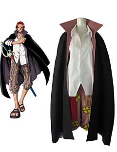 """billige Anime cosplay-Inspirert av One Piece Shanks Anime  """"Cosplay-kostymer"""" Cosplay Klær Fargeblokk Langermet Genser / Bukser / Kappe Til Herre"""