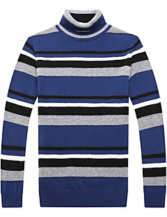 tanie Męskie swetry i swetry rozpinane-Męskie Golf Pulower Prążki Długi rękaw