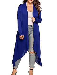 رخيصةأون معاطف و معاطف مطر نسائية-معطف طويل للمرأة - بلون خالص