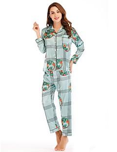 billige Moteundertøy-Dame Dyp V Dress Pyjamas - Geometrisk