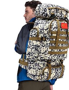 billiga Ryggsäckar och väskor-70 L Ryggsäckar / Ryggsäck - Regnsäker, Bärbar Utomhus Jakt, Camping Nylon Grön, Himmelsblå+Vit, Kamoflage