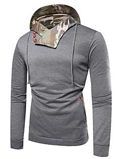 tanie Miesten hupparit ja collegepuserot-męska luźna bluza z długim rękawem i bawełną - kamuflaż / kolor z kapturem