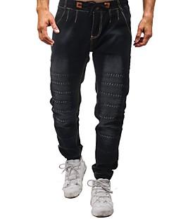 billige Herrebukser og -shorts-menns bomullsbuksebukser - solidfarget