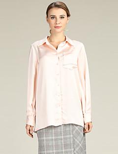 billige Dametopper-Bluse Dame - Ensfarget Grunnleggende