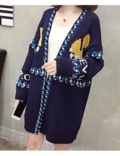 baratos Suéteres de Mulher-Mulheres Básico Carregam - Geométrica