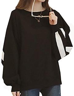 tanie Damskie bluzy z kapturem-Damskie Bawełna Bluzy - Jendolity kolor