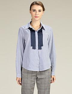 billige Dametopper-Skjorte Dame - Stripet, Lapper Forretning / Grunnleggende