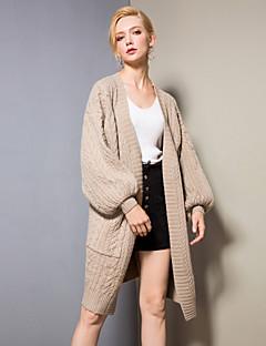 baratos Suéteres de Mulher-Mulheres Activo / Básico Luva Lantern Carregam - Sólido