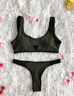 billige Bikinier og damemote 2017-Dame Bikinikjole Cheeky Ensfarget
