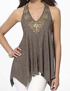 billige Tanktoppe & små toppe til kvinder-Dame - Ensfarvet Aktiv T-shirt