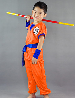 """billige Anime Kostymer-Inspirert av Dragon Ball Son Goku Anime  """"Cosplay-kostymer"""" Cosplay Klær Ord / setning Kortermet Topp / Bukser / Belte Til Gutt"""