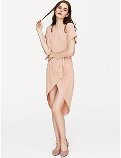 baratos Vestidos de Festa-Mulheres Para Noite Delgado Bainha Vestido Sólido Cintura Alta Assimétrico
