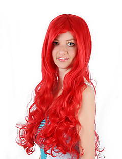 Synthetic Wig / Cosplay Wig Curly Red Bob Watermelon Red Synthetic Hair 30 inch Women's Anime / Cosplay / Women Red Wig Long Machine Made