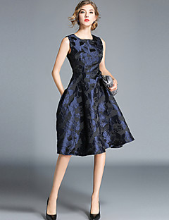 billige Damekjoler-Dame Vintage / Elegant A-linje Kjole - Abstrakt, Trykt mønster Knelang