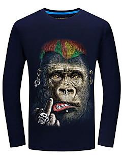 Χαμηλού Κόστους Κορυφαία σε Πωλήσεις-Ανδρικά T-shirt Κομψό στυλ street Ζώο Στάμπα