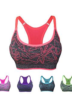 Χαμηλού Κόστους Άσκηση, γυμναστική και γιόγκα-Γυναικεία Με σπορ πλάτη Τοπ σουτιέν - Κόκκινο, Πράσινο, Μπλε Αθλητισμός Μοντέρνα Μπολύζες Γιόγκα, Τρέξιμο, Fitness Ρούχα Γυμναστικής Γρήγορο Στέγνωμα, Αναπνέει, Anti Transpirație Μικροελαστικό