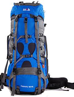 billiga Ryggsäckar och väskor-BSwolf 85 L Ryggsäck - Regnsäker, Bärbar, Mateial som andas Utomhus Camping, Resor Nylon Himmelsblå, Röd, Marinblå
