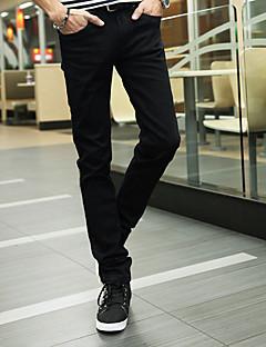 Χαμηλού Κόστους Chinos-Ανδρικά Βασικό Λεπτό Chinos Παντελόνι Μονόχρωμο