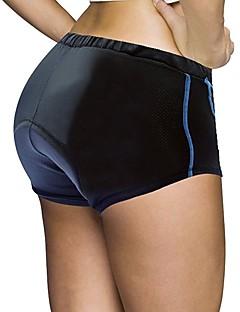 billige Sykkelbukser,Shorts,Strømpebukser, Tights-ILPALADINO Dame Undershorts til sykling Sykkel Fôrede shorts 3D Pute, Fort Tørring, Anatomisk design Ensfarget Spandex, Lycra Blå / Svart