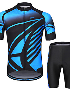 Arsuxeo Men s Short Sleeves Cycling Jersey with Shorts - Blue Bike Clothing  Suit 3D Pad Sports Painting Mountain Bike MTB Road Bike Cycling Clothing  Apparel ... 8de78a787