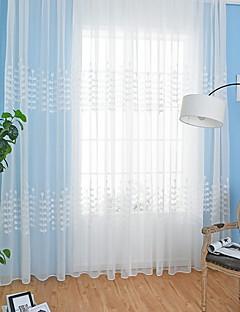 baratos Cortinas Transparentes-Sheer Curtains Shades Quarto Geométrica Poliéster Estampado