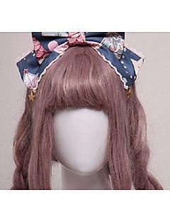 billiga Lolitaaccessoarer-Lolita Accessoarer Huvudbonad Fascinators Söt Lolita Flickor Svart / Bläck blå lolita tillbehör Sydd spets Huvudbonad Halloweenkostymer