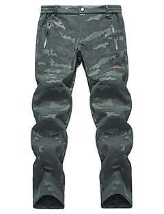 tanie Turystyczne spodnie i szorty-Męskie Spodnie turystyczne Na wolnym powietrzu Odporność na wiatr, Ochrona przed deszczem, Oddychalność Zima Spodnie, Doły Piesze wycieczki Ćwiczenia na zewnątrz XL XXL XXXL / Średnio elastyczny